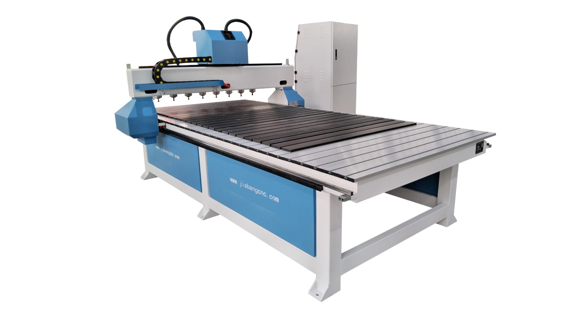 Eight-spindle CNC router for batch engraving
