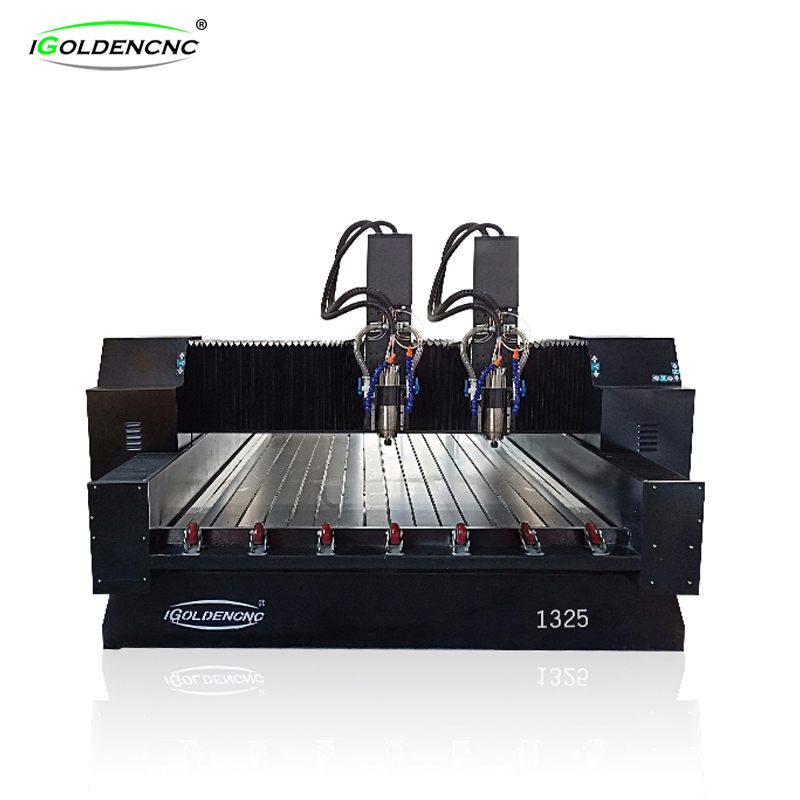 Two head stone engraving machine